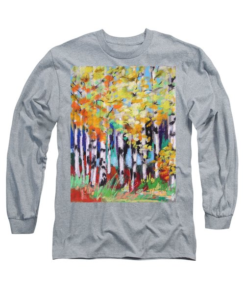 Turning Birches Long Sleeve T-Shirt