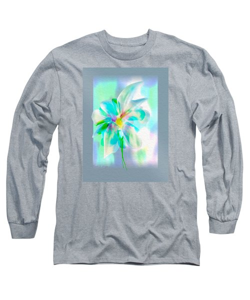 Long Sleeve T-Shirt featuring the digital art Turquoise Bloom by Frank Bright