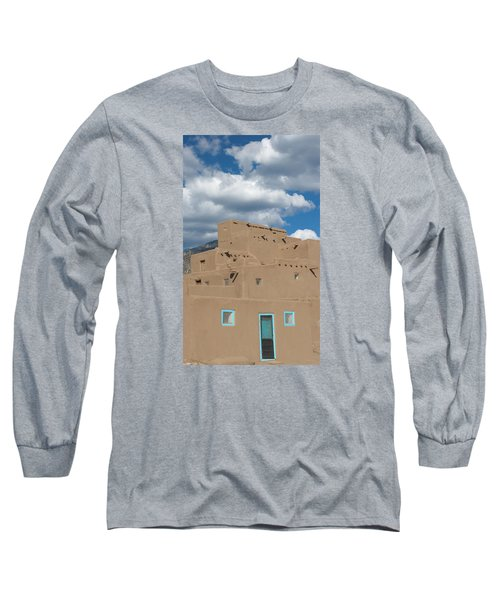 Turquoise Door And Windows Long Sleeve T-Shirt by Elvira Butler