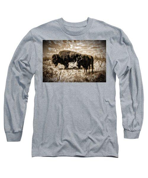 Two Buffalo Long Sleeve T-Shirt