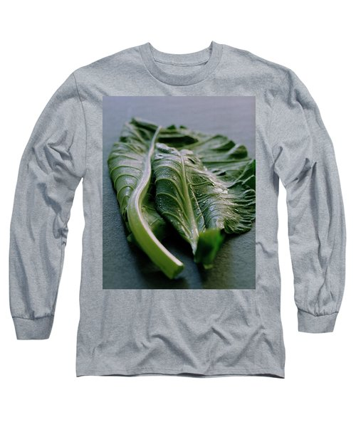 Two Collard Leaves Long Sleeve T-Shirt
