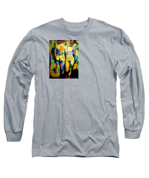 Long Sleeve T-Shirt featuring the painting Two Nudes by Helena Wierzbicki