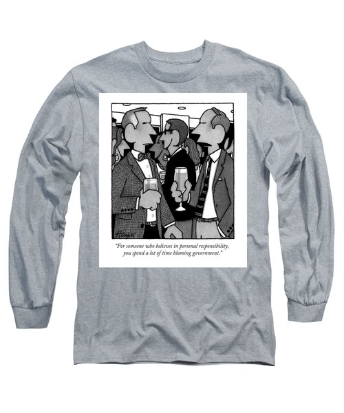 Two Men Speak At A Party Long Sleeve T-Shirt