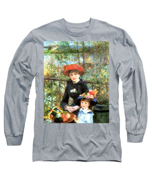 Two Sisters On The Terrace Long Sleeve T-Shirt