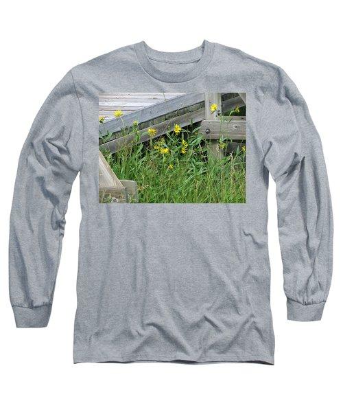 Under The Boardwalk Long Sleeve T-Shirt by Laurel Powell