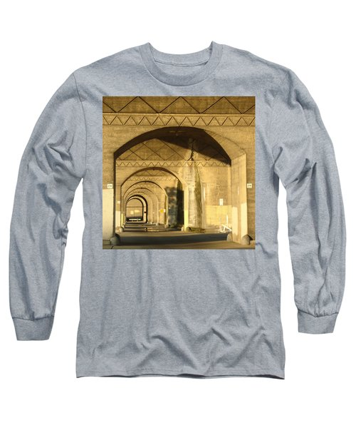 Under The Bridge Long Sleeve T-Shirt by Joseph Skompski