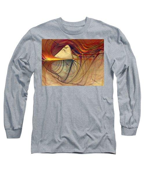 Under The Skin-abstract Art Long Sleeve T-Shirt