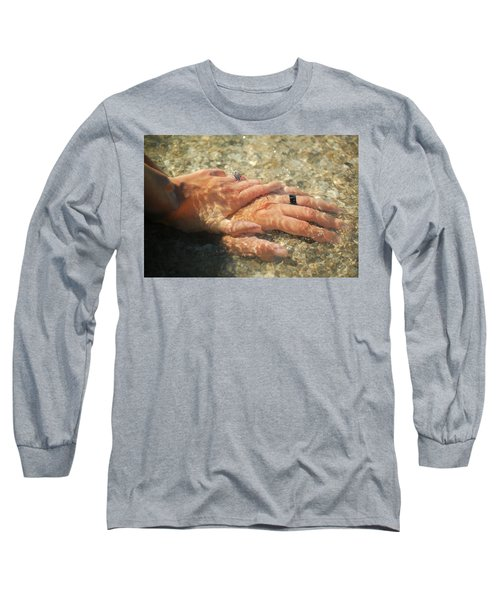 Long Sleeve T-Shirt featuring the photograph Underwater Hands by Leticia Latocki