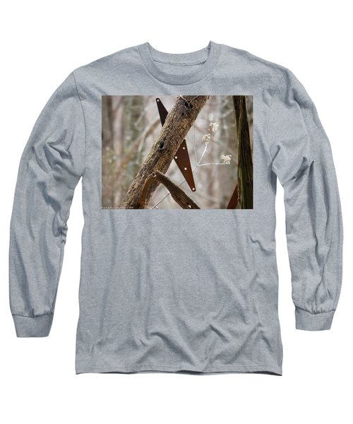 Long Sleeve T-Shirt featuring the photograph Unhinged by Nick Kirby
