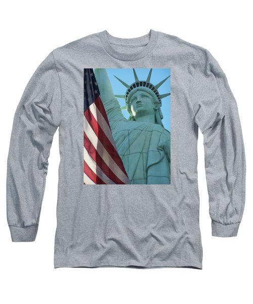 United States Of America Long Sleeve T-Shirt by Jewels Blake Hamrick