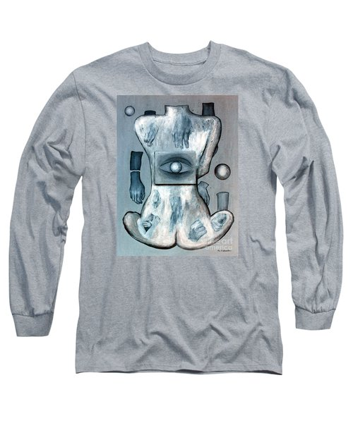Long Sleeve T-Shirt featuring the painting Listen Via Your Eyes by Fei A