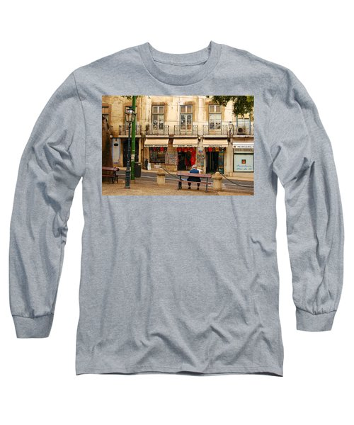 Lisbon Street Scene Long Sleeve T-Shirt