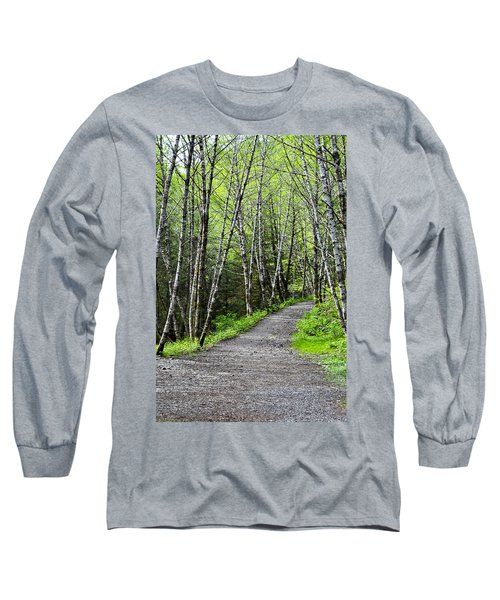 Long Sleeve T-Shirt featuring the photograph Up The Trail by Cathy Mahnke