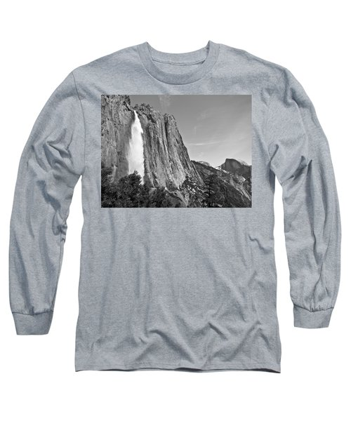 Upper Yosemite Fall With Half Dome Long Sleeve T-Shirt