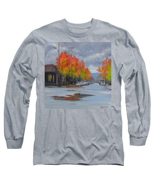 Long Sleeve T-Shirt featuring the painting Urban Autumn by Karen Ilari
