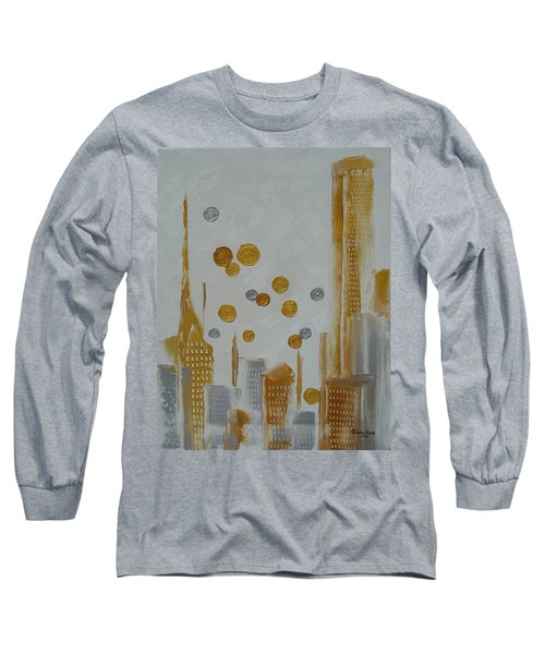 Long Sleeve T-Shirt featuring the painting Urban Polish by Judith Rhue