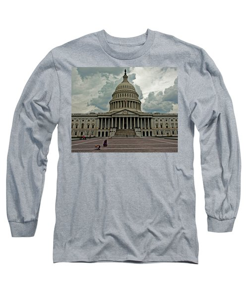 Long Sleeve T-Shirt featuring the photograph U.s. Capitol Building by Suzanne Stout