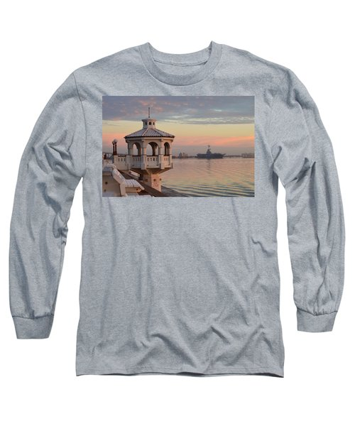 Uss Lexington At Sunrise Long Sleeve T-Shirt
