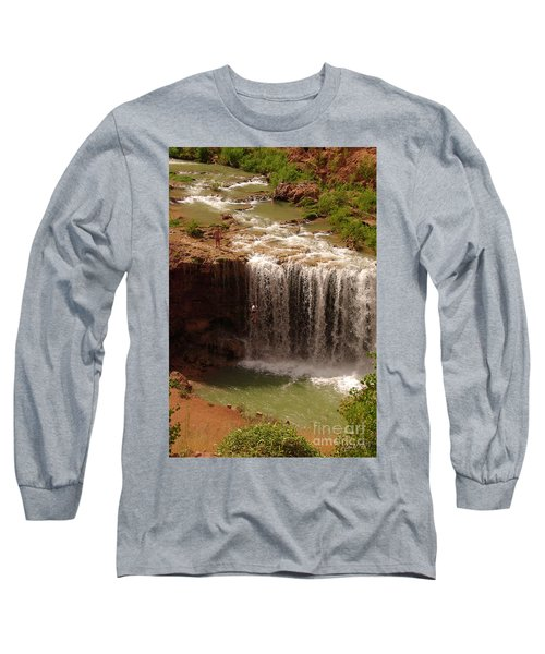 Vacation At Lower Navajo Falls Long Sleeve T-Shirt