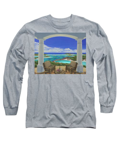 Vacation View Long Sleeve T-Shirt by Jane Girardot