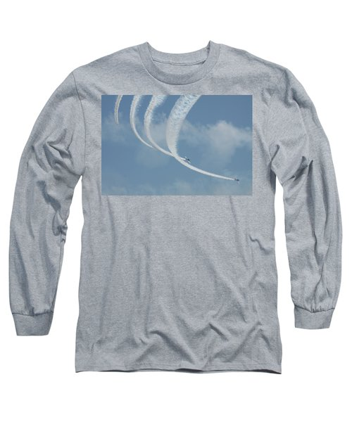 Vapor Trails In The Empty Air Long Sleeve T-Shirt by Mustafa Abdullah