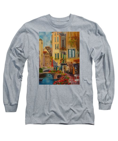 Venic Canal 1 Long Sleeve T-Shirt by Jenny Lee