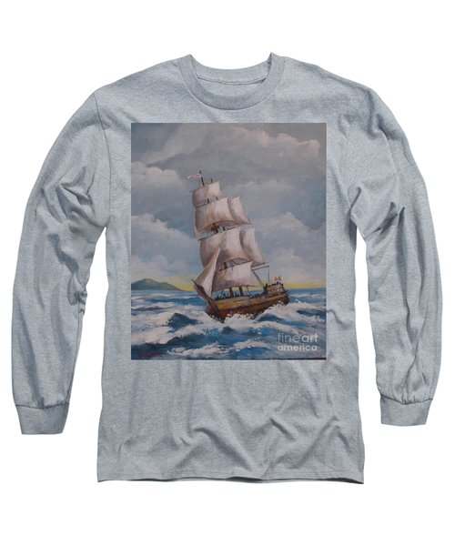 Vessel In The Sea Long Sleeve T-Shirt