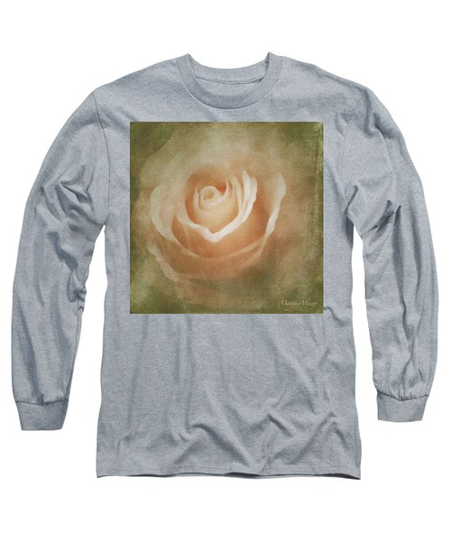Victorian Vintage Pink Rose Long Sleeve T-Shirt