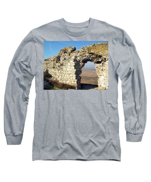 View From Enisala Fortress 2 Long Sleeve T-Shirt by Manuela Constantin