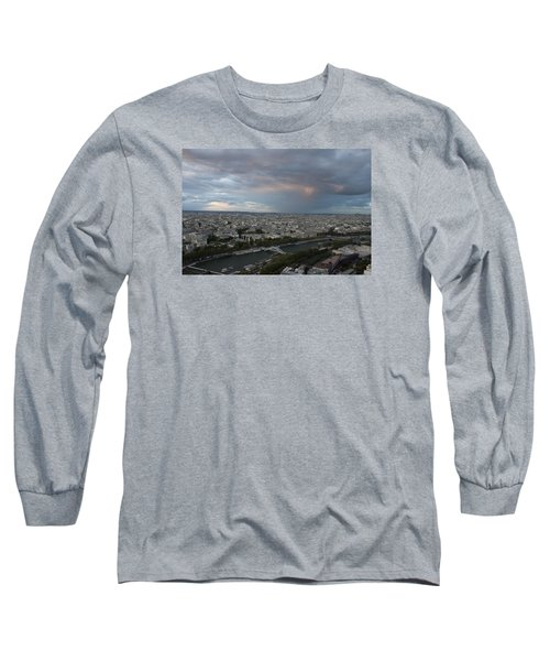 View Of Paris Long Sleeve T-Shirt by Ivete Basso Photography