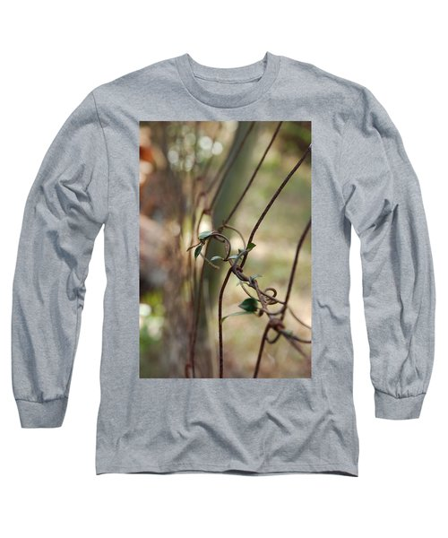 Vine On Rusted Fence Long Sleeve T-Shirt