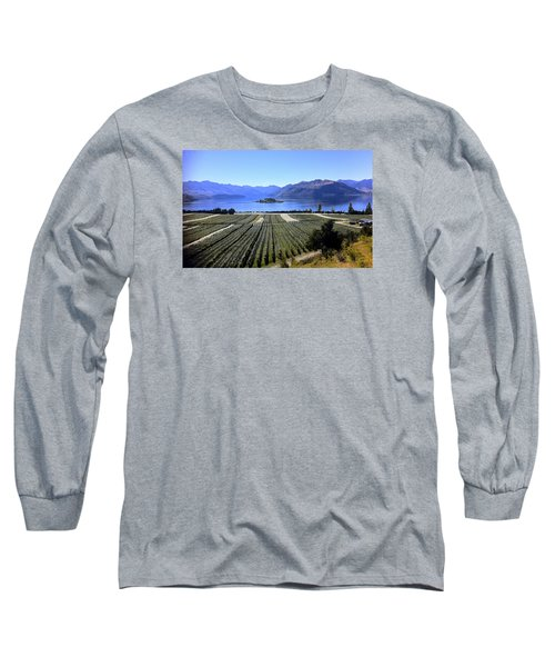 Vineyard View Of Ruby Island Long Sleeve T-Shirt by Venetia Featherstone-Witty