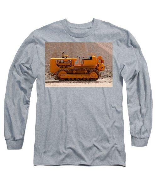 Vintage Bulldozer Long Sleeve T-Shirt