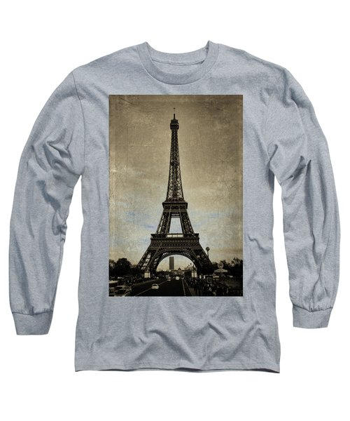 Vintage Eiffel Bronze Long Sleeve T-Shirt