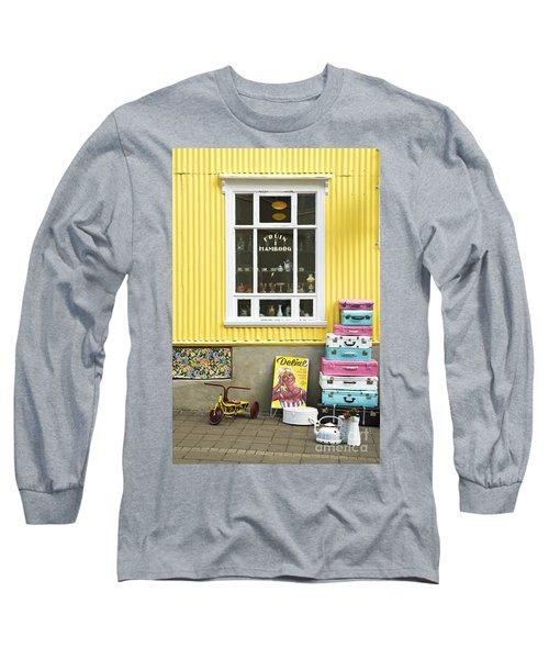 Vintage Shop In Akureyri Iceland Long Sleeve T-Shirt