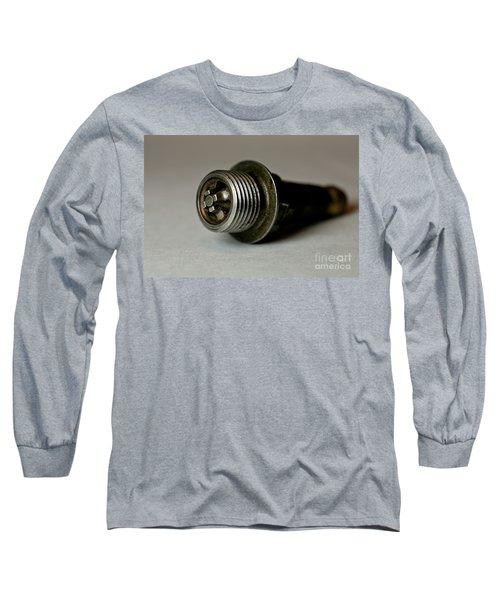 Vintage Spark Plug  Long Sleeve T-Shirt by Wilma  Birdwell