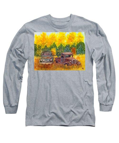 Vintage Trucks Long Sleeve T-Shirt by Belinda Lawson