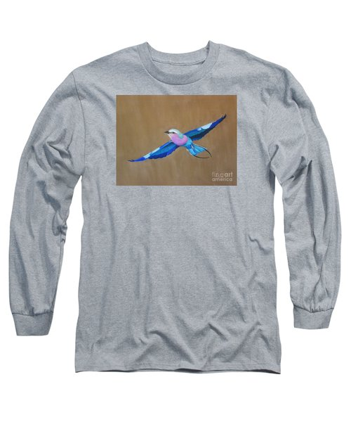 Violet-breasted Roller Bird II Long Sleeve T-Shirt