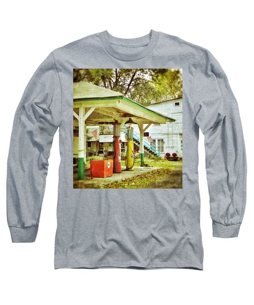 Long Sleeve T-Shirt featuring the photograph Visible Gas Pumps by Jean Goodwin Brooks