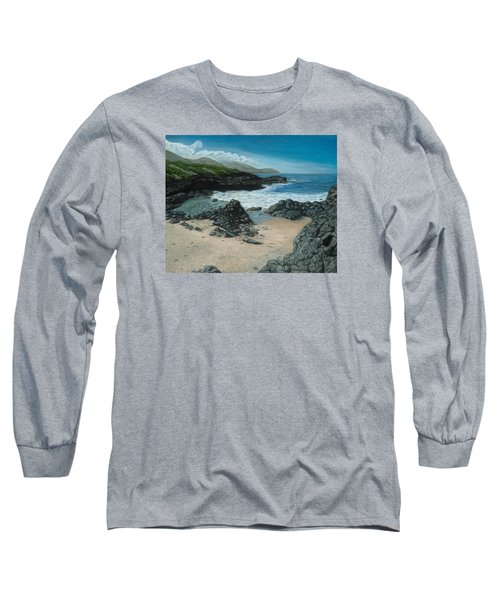 Visitor At Kaena Point Long Sleeve T-Shirt