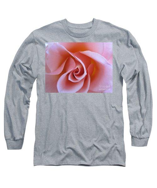 Vivacious Pink Rose Long Sleeve T-Shirt