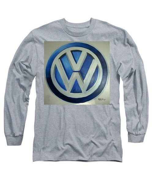 Vw Logo Blue Long Sleeve T-Shirt