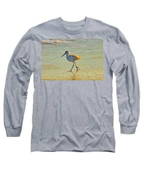 Long Sleeve T-Shirt featuring the photograph Walk On The Beach by Cynthia Guinn