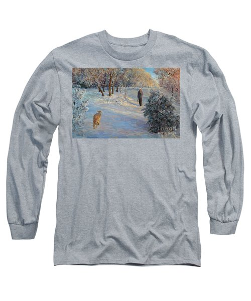 Walking In A Winter Park Long Sleeve T-Shirt