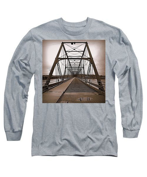 Walnut Street Bridge Long Sleeve T-Shirt by Joseph Skompski