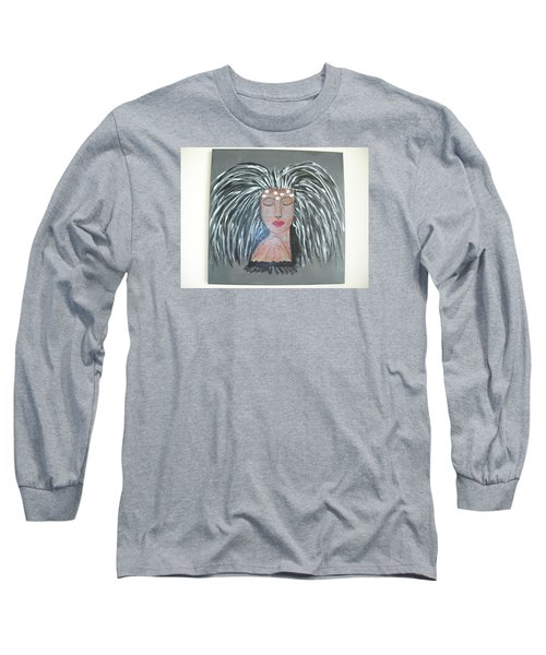 Long Sleeve T-Shirt featuring the painting Warrior Woman #2 by Sharyn Winters