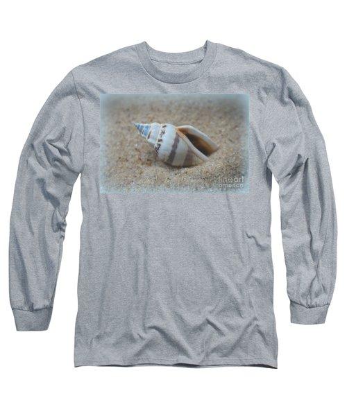 Washed Ashore Seashell Treasure Long Sleeve T-Shirt by Ella Kaye Dickey