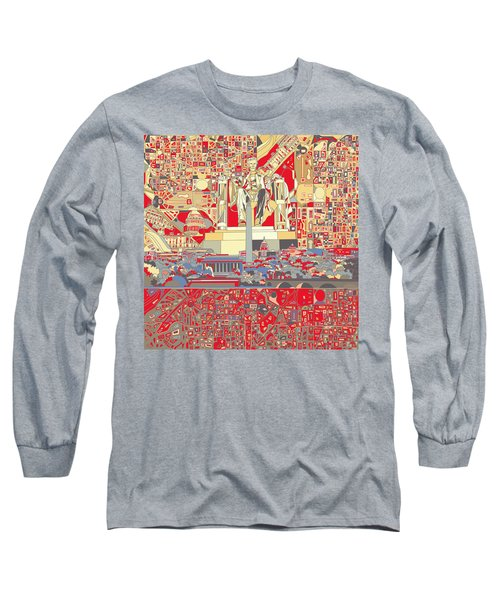 Washington Dc Skyline Abstract 6 Long Sleeve T-Shirt