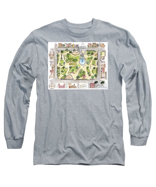 Washington Square Park Map Long Sleeve T-Shirt