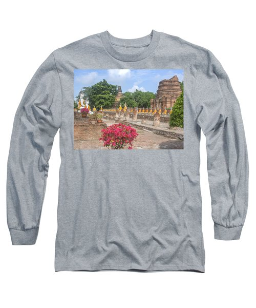 Wat Phra Chao Phya-thai Buddha Images And Ruined Chedi Dtha004 Long Sleeve T-Shirt